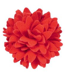 Miss Diva Elegant Polar Fleece Flower Brooch - Orange