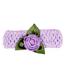 Miss Diva Leafy Flower Soft Headband - Purple