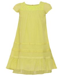Miyo Cotton Dress - Yellow