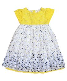 Miyo Floral Polyester Dress - Yellow