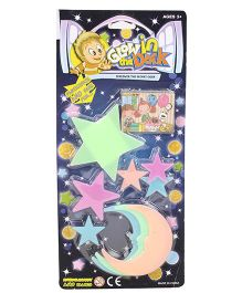 Smiles Creation Lighting Star & Moon Glow In The Dark Stickers - Multicolor