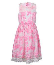 Miyo Floral Cotton Dress - Pink