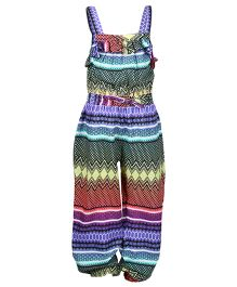 Miyo Printed Polyester Jumpsuit - Multicolour