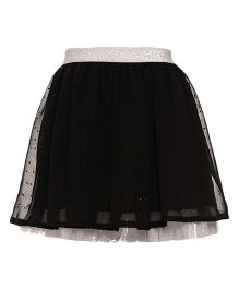 Miyo Net Polyester Skirt - Black
