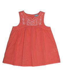 Miyo Sleeveless Cotton Top - Orange