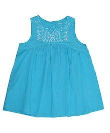 Miyo Elegant Cotton Top - Blue