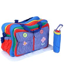 Mother Bag Set Butterfly Print - Red Multicolor
