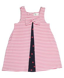 Orgaknit Bow Applique Dress - Pink
