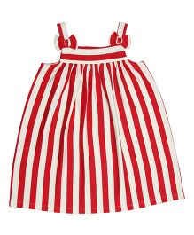 Orgaknit Striped Dress - Red