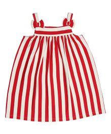 Orgaknit Striped Dress - Red