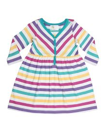 Orgaknit Striped Dress - Multicolour