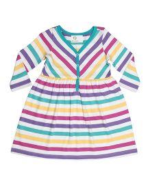 Orgaknit Striped Dress - Multicolour