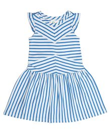 Orgaknit Pretty Striped Dress - Blue