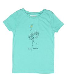 Orgaknit Party Animal Printed Tee - Green