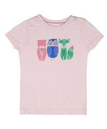 Orgaknit Animal Printed Tee - Pink