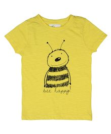 Orgaknit Bee Print Tee - Yellow