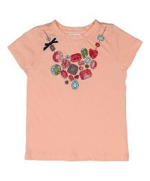 Orgaknit Jewelry Printed Tee - Peach