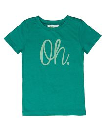 Orgaknit Oh Print Tee - Green