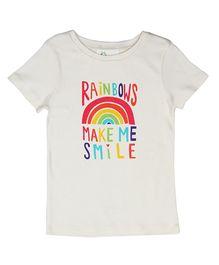 Orgaknit Rainbow Print Tee - White