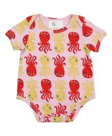 Orgaknit Organic Cotton Octopus Print Onesie - Pink