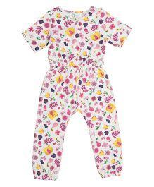 Orgaknit Organic Cotton Bear Print Romper - Multicolour
