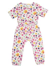 Orgaknit Organic Cotton Bear Print Romper - Multicolour