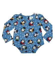 Orgaknit Organic Cotton Penguin Printed Onesie - Blue