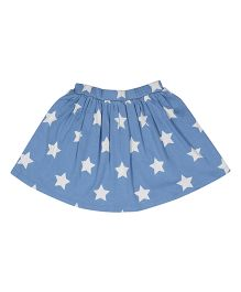 Orgaknit Organic Cotton Star Printed Skirt - Blue