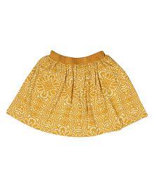 Orgaknit Organic Cotton Printed Skirt - Yellow