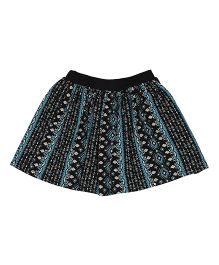 Orgaknit Attractive Print Organic Cotton Skirt - Black