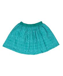 Orgaknit Attractive Print Organic Cotton Skirt - Blue
