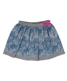 Orgaknit Printed Organic Cotton Skirt - Grey & Blue