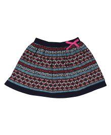 Orgaknit Printed Organic Cotton Skirt - Black