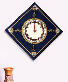 ExclusiveLane Warli Handpainted Diagonal Clock - Blue
