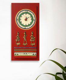 ExclusiveLane Warli Handpainted And Dhokra Work - Red