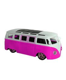 Adraxx School Bus With Light And Music - Pink