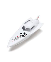 Adraxx High Speed RC Racing Torpedo Boat Toy Ship - White