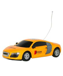 Adraxx 4 Channel Die Cast Mini Remote Control Car - Yellow