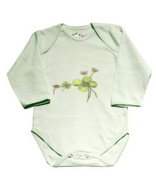 Kiwi Printed Full Sleeves Onesie - Mint Green