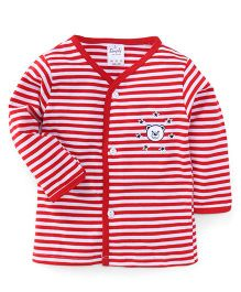 Simply Full Sleeves Vest Puppy Print - Red