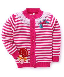 Superfie Fancy Cardigan For Girls - Pink