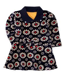 Superfie Floral Printed Dress - Navy Blue
