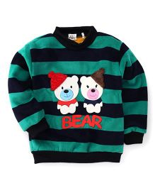 Superfie Twin Teddy Print Sweatshirt - Green