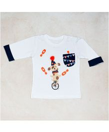 Plan B Circus Print T-Shirt - White