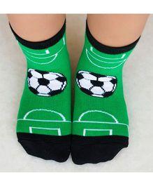 Plan B Football Print Socks - Green & Black