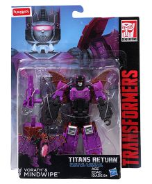 Transformers Funskool Titans Return Vorath And Mindwipe Figure Purple Black - 14 cm