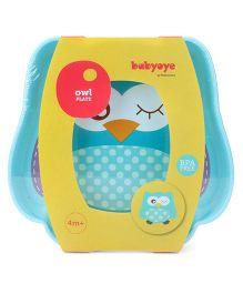 Babyoye Owl Character Plate - Blue