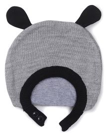 Babyoye Winter Cap - Grey Black