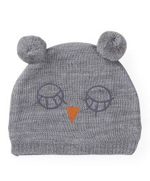 Babyoye Winter Cap - Melange Grey