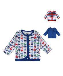 FS Mini Klub Front Open Vest Pack Of 3 - Multicolor